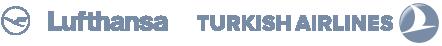 Logo Lufthansa & Turkish Airlines